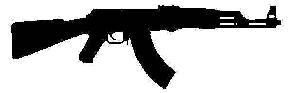 AK47 Rifle Gun Sticker Decal
