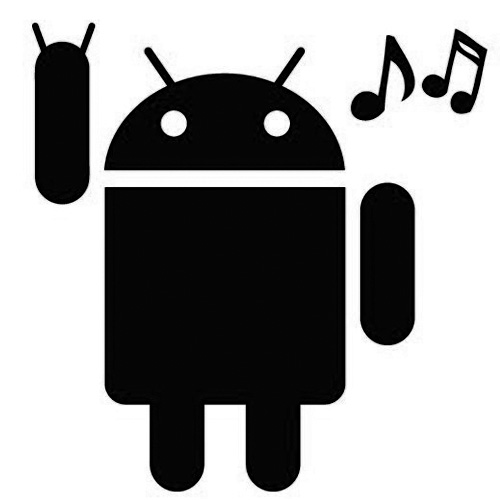 Android Rocking Out Sticker