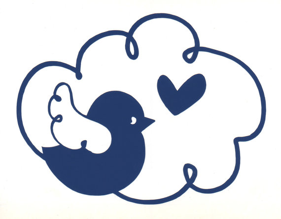 Bird In Cloud Sticker