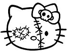 Hello Kitty Patched Up Sticker