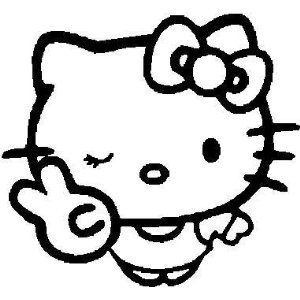 Hello Kitty Peace Out Sticker