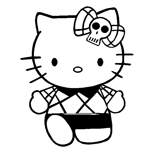 Hello Kitty Punk Sticker