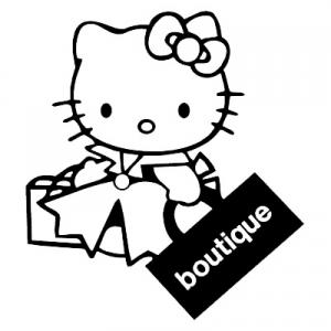 Hello Kitty Shopping Sticker