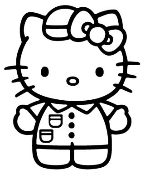 Hello Kitty Uniform Sticker