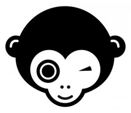 Monkey Face Sticker