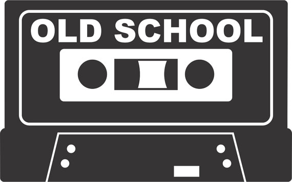 Old School Tape Sticker