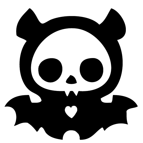 Skeleton Bat Sticker